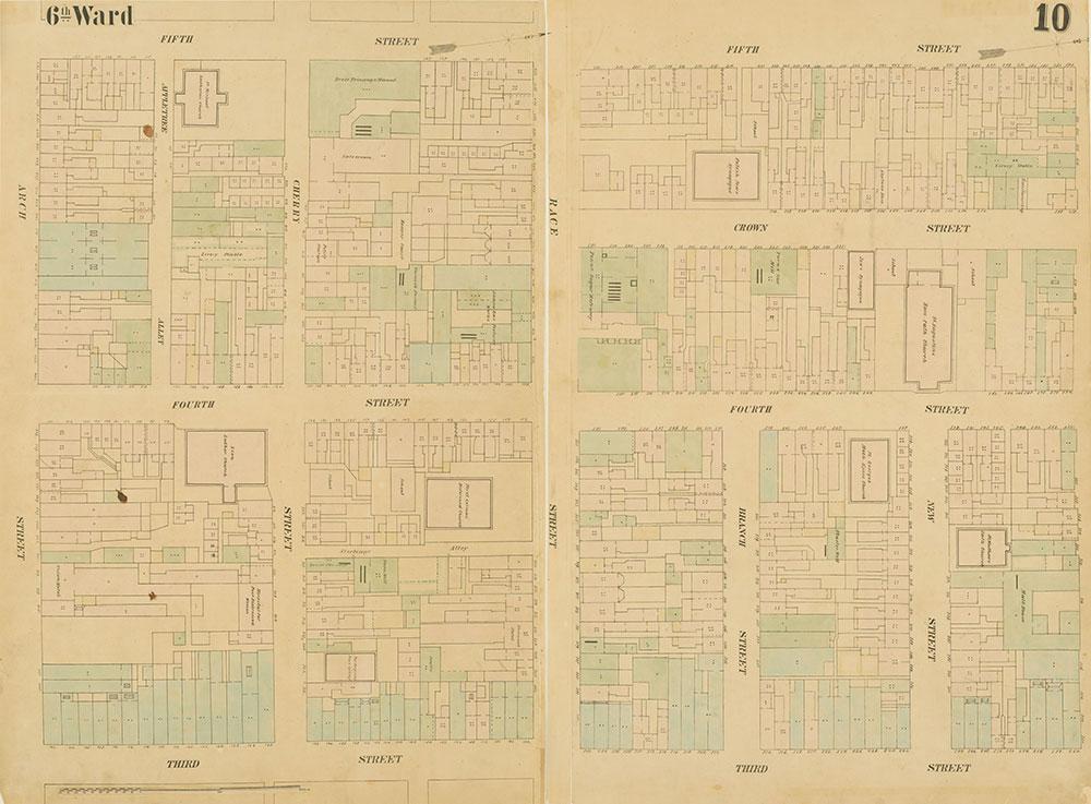 Maps of the City of Philadelphia, 1858-1860, Plate 10