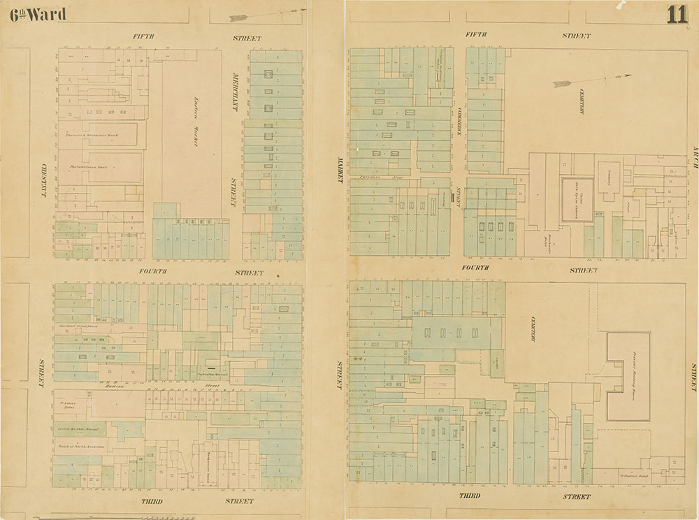 Maps of the City of Philadelphia, 1858-1860, Plate 11