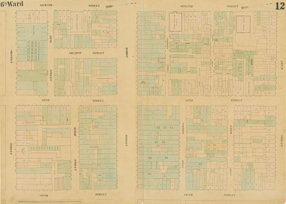 Maps of the City of Philadelphia, 1858-1860, Plate 12