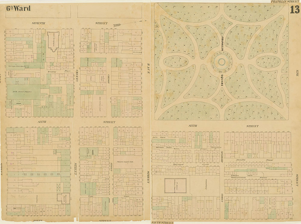 Maps of the City of Philadelphia, 1858-1860, Plate 13