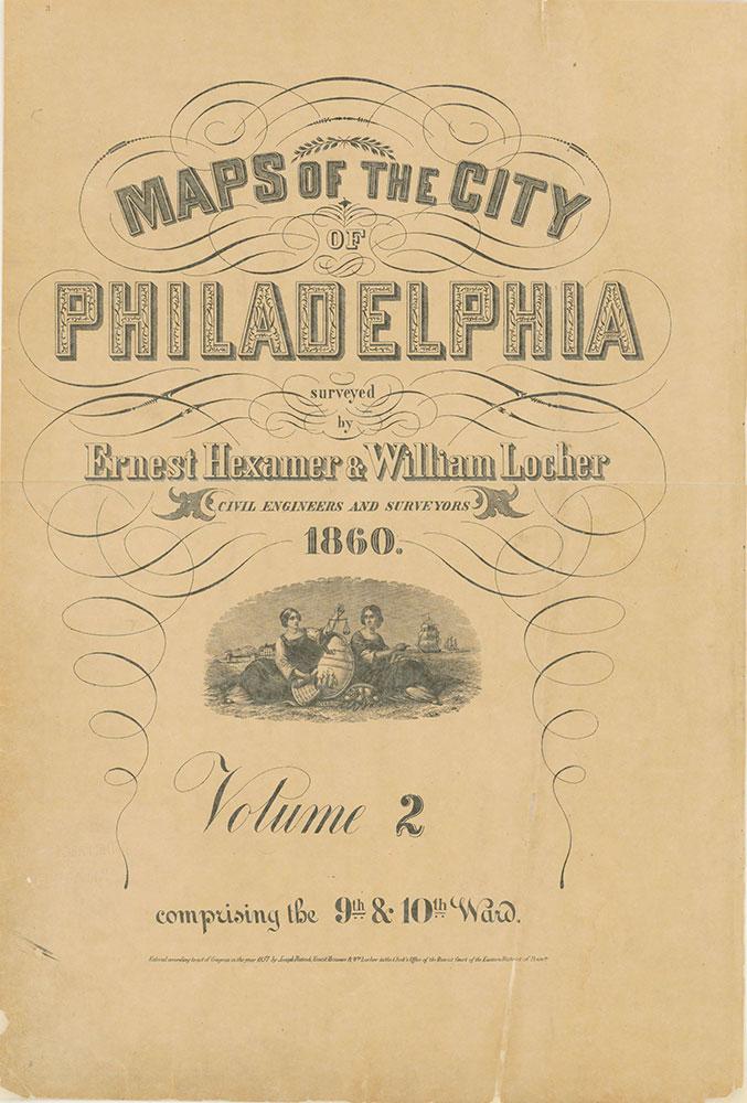 Maps of the City of Philadelphia, 1858-1860, Title