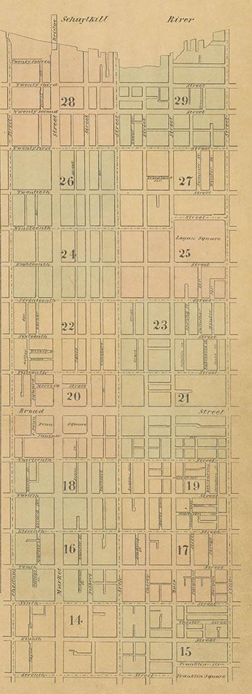 Maps of the City of Philadelphia, 1858-1860, Index (vol. 2)