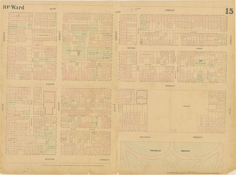 Maps of the City of Philadelphia, 1858-1860, Plate 15