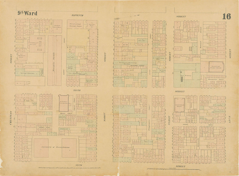 Maps of the City of Philadelphia, 1858-1860, Plate 16