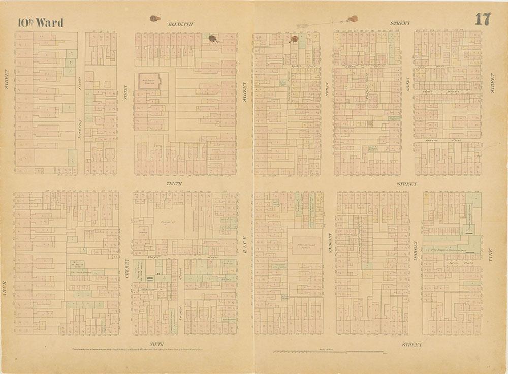 Maps of the City of Philadelphia, 1858-1860, Plate 17