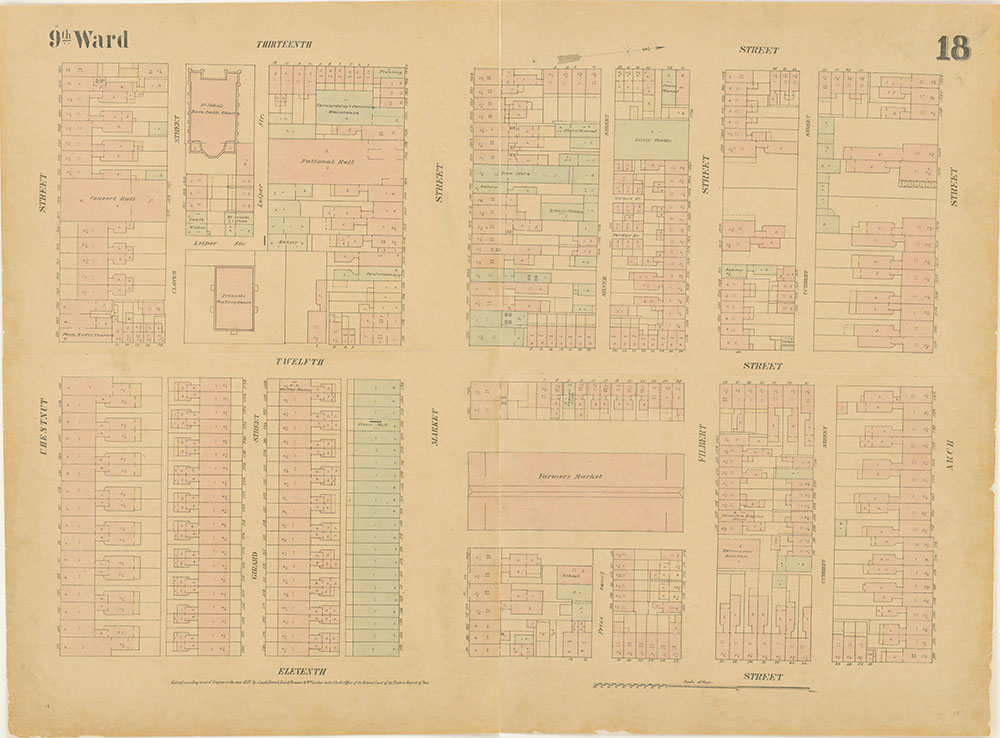 Maps of the City of Philadelphia, 1858-1860, Plate 18