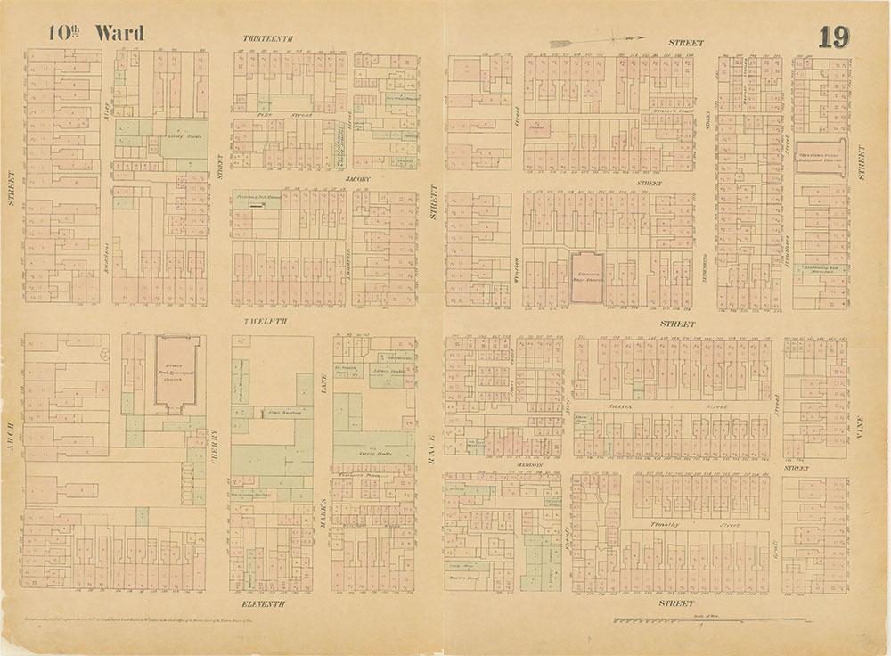 Maps of the City of Philadelphia, 1858-1860, Plate 19