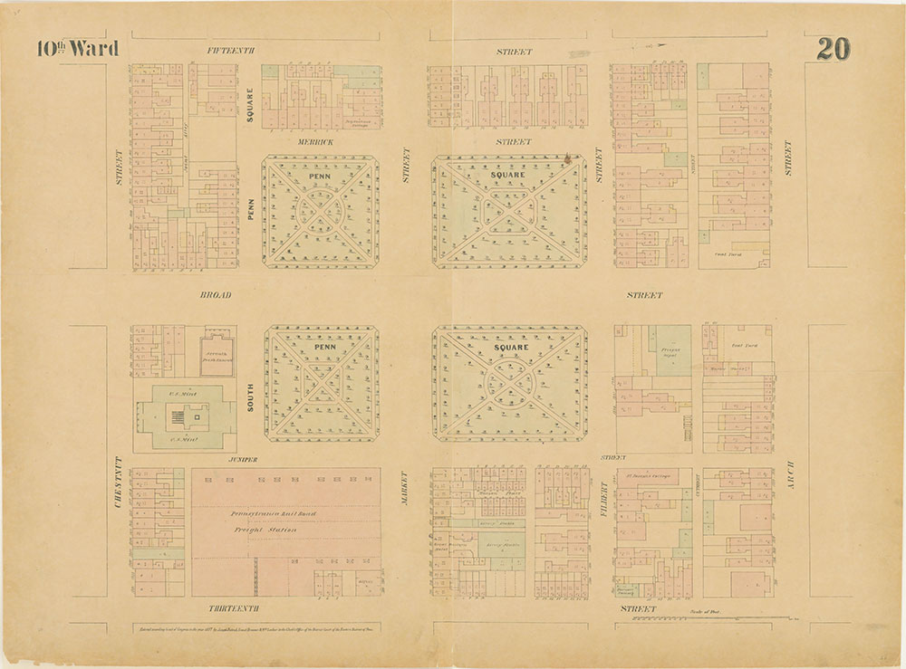 Maps of the City of Philadelphia, 1858-1860, Plate 20