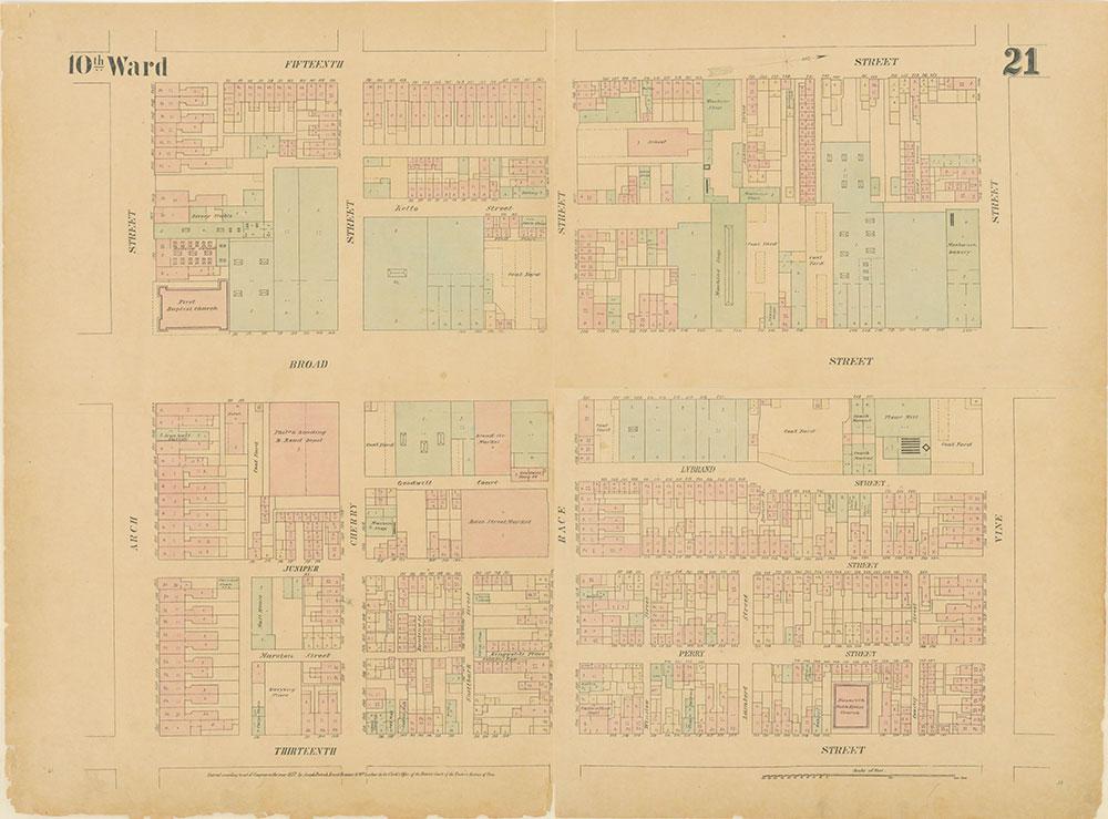 Maps of the City of Philadelphia, 1858-1860, Plate 21