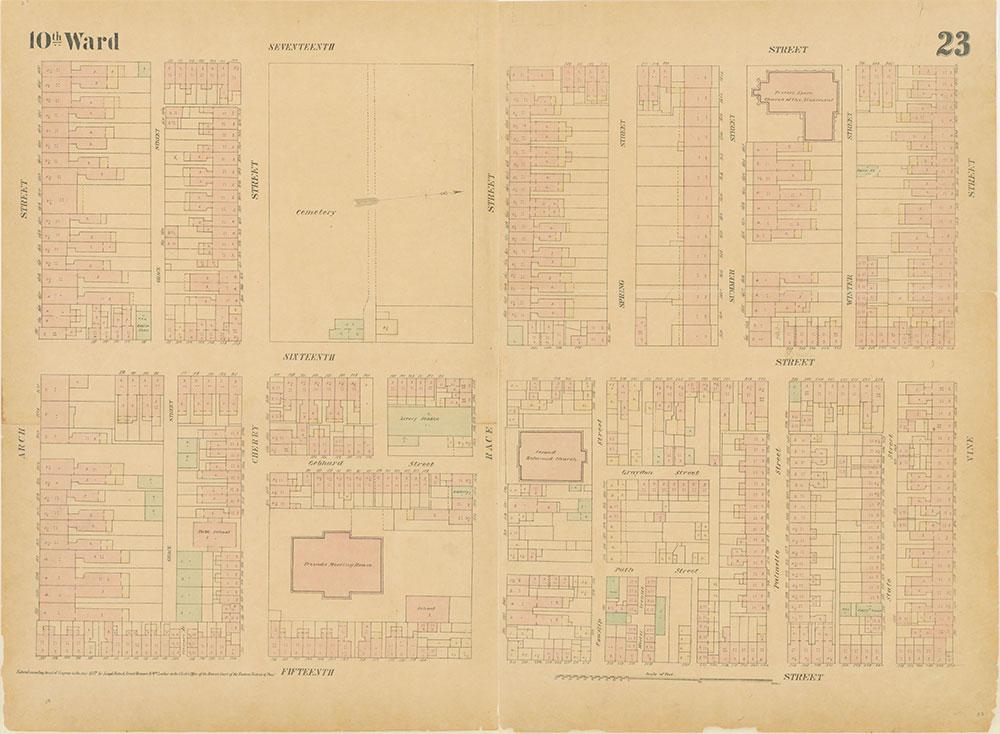 Maps of the City of Philadelphia, 1858-1860, Plate 23