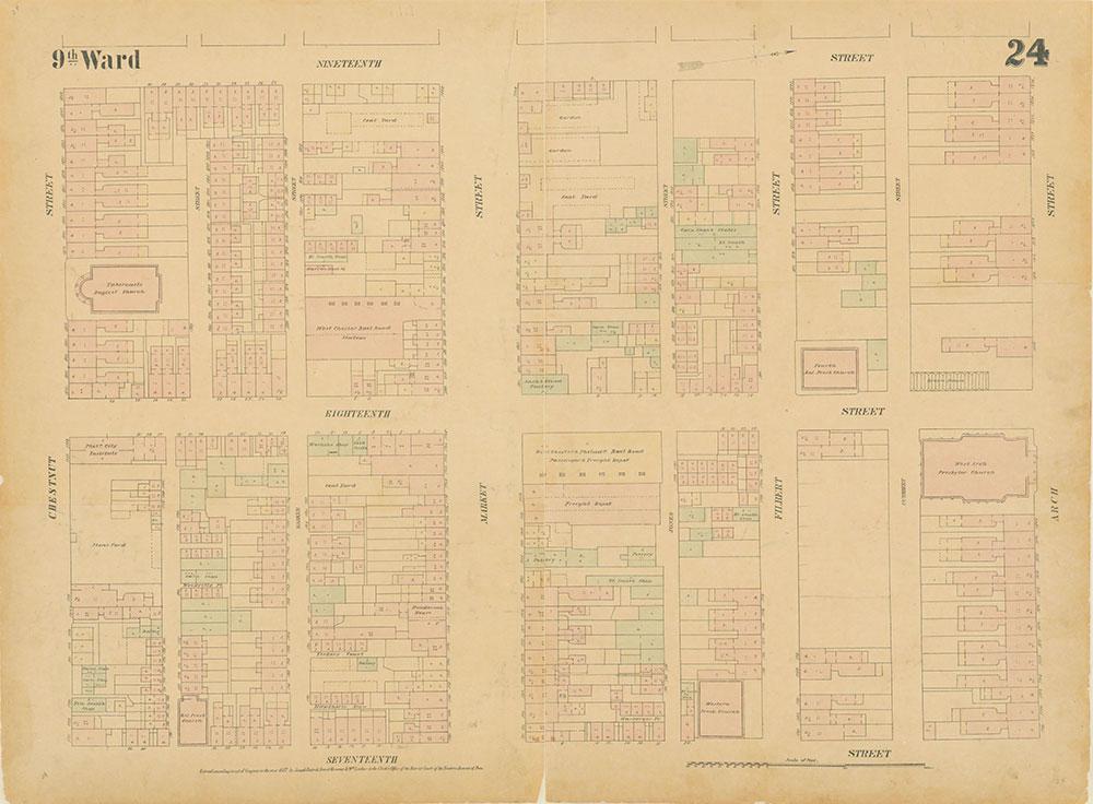 Maps of the City of Philadelphia, 1858-1860, Plate 24