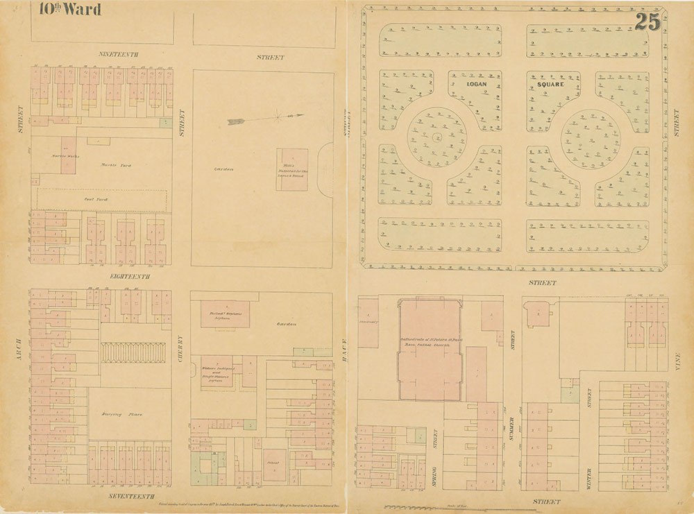 Maps of the City of Philadelphia, 1858-1860, Plate 25