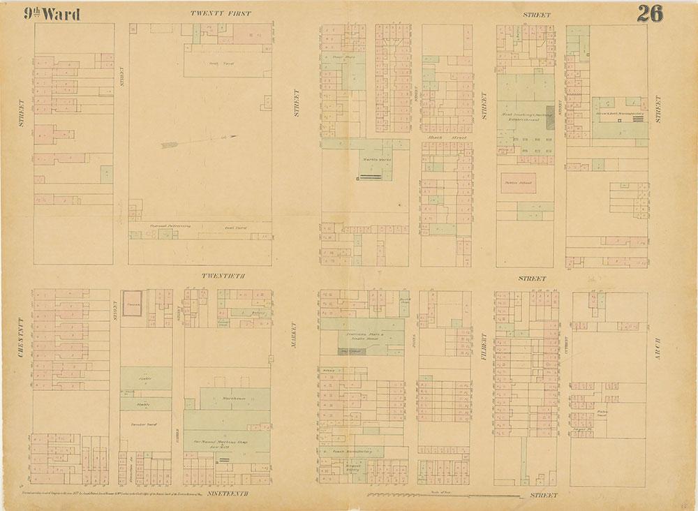 Maps of the City of Philadelphia, 1858-1860, Plate 26