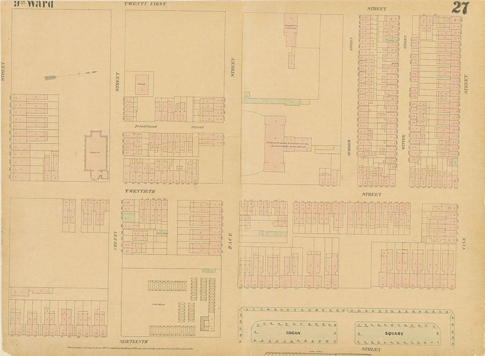 Maps of the City of Philadelphia, 1858-1860, Plate 27