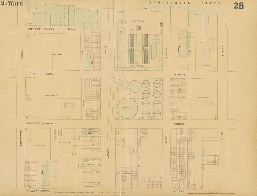 Maps of the City of Philadelphia, 1858-1860, Plate 28