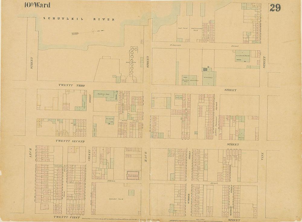 Maps of the City of Philadelphia, 1858-1860, Plate 29