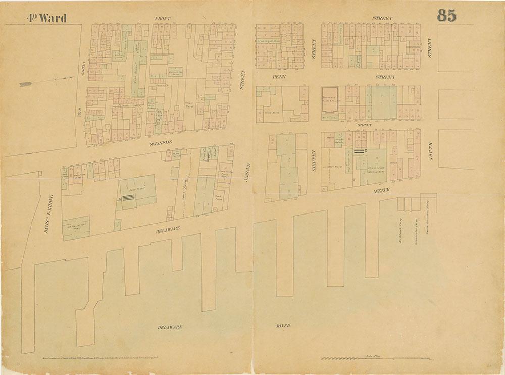 Maps of the City of Philadelphia, 1858-1860, Plate 85