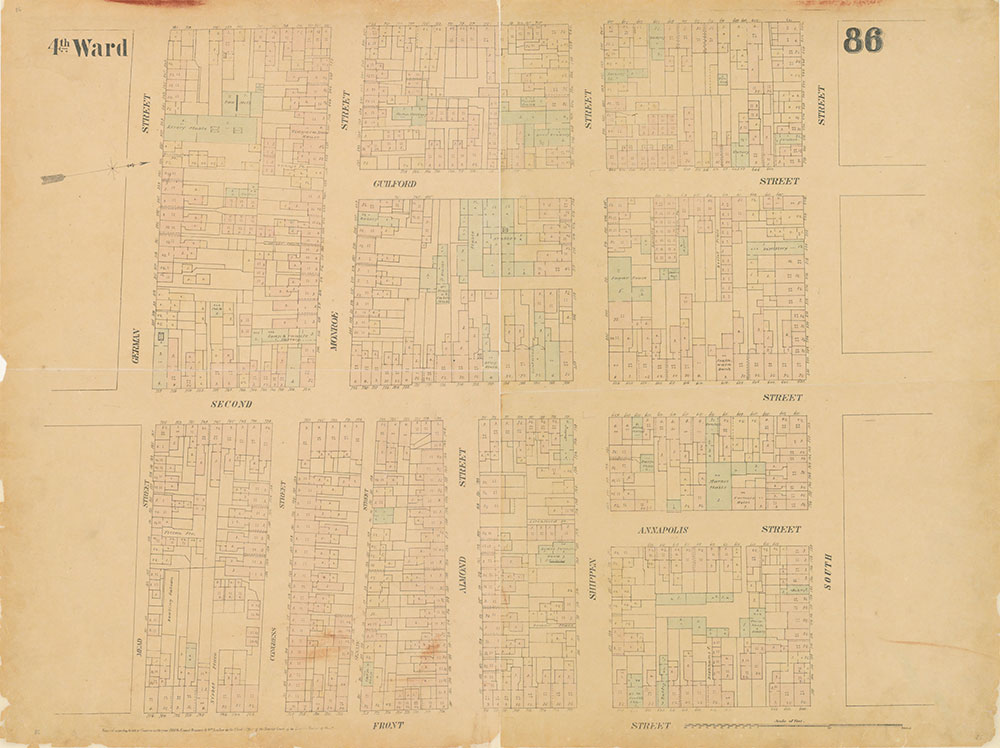 Maps of the City of Philadelphia, 1858-1860, Plate 86