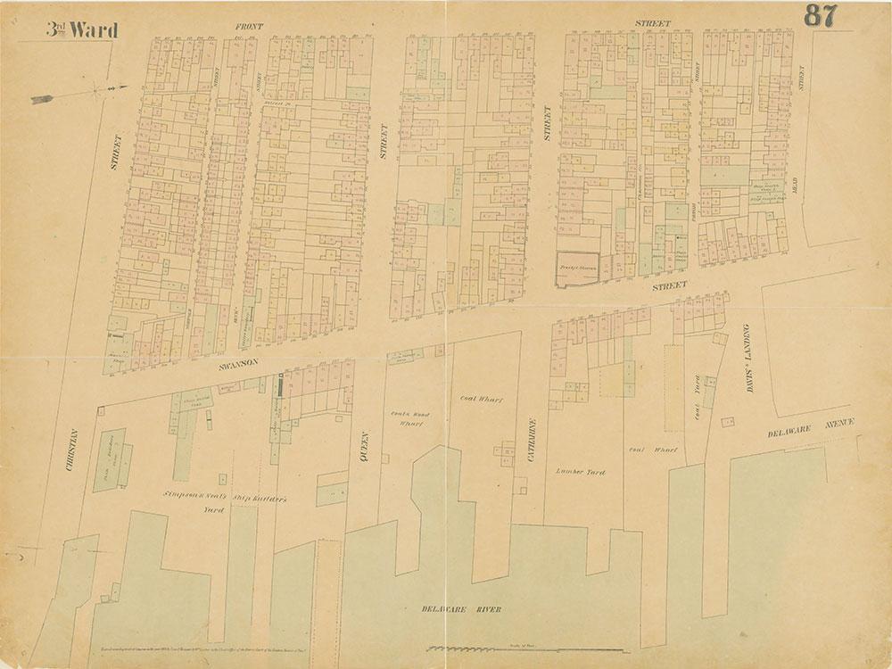 Maps of the City of Philadelphia, 1858-1860, Plate 87