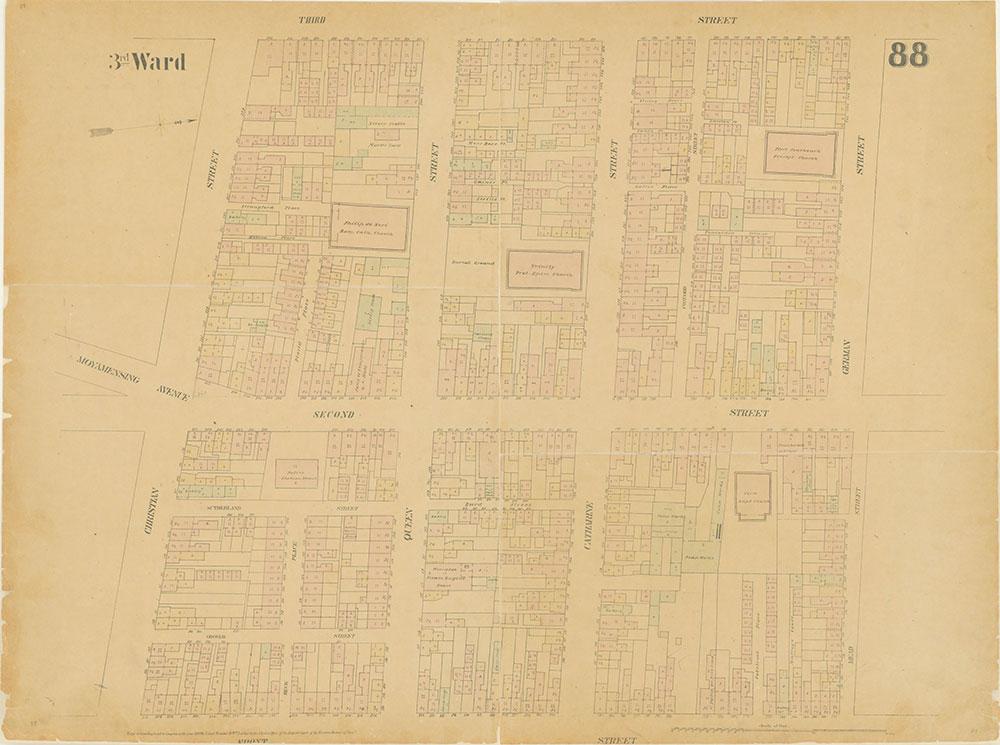 Maps of the City of Philadelphia, 1858-1860, Plate 88