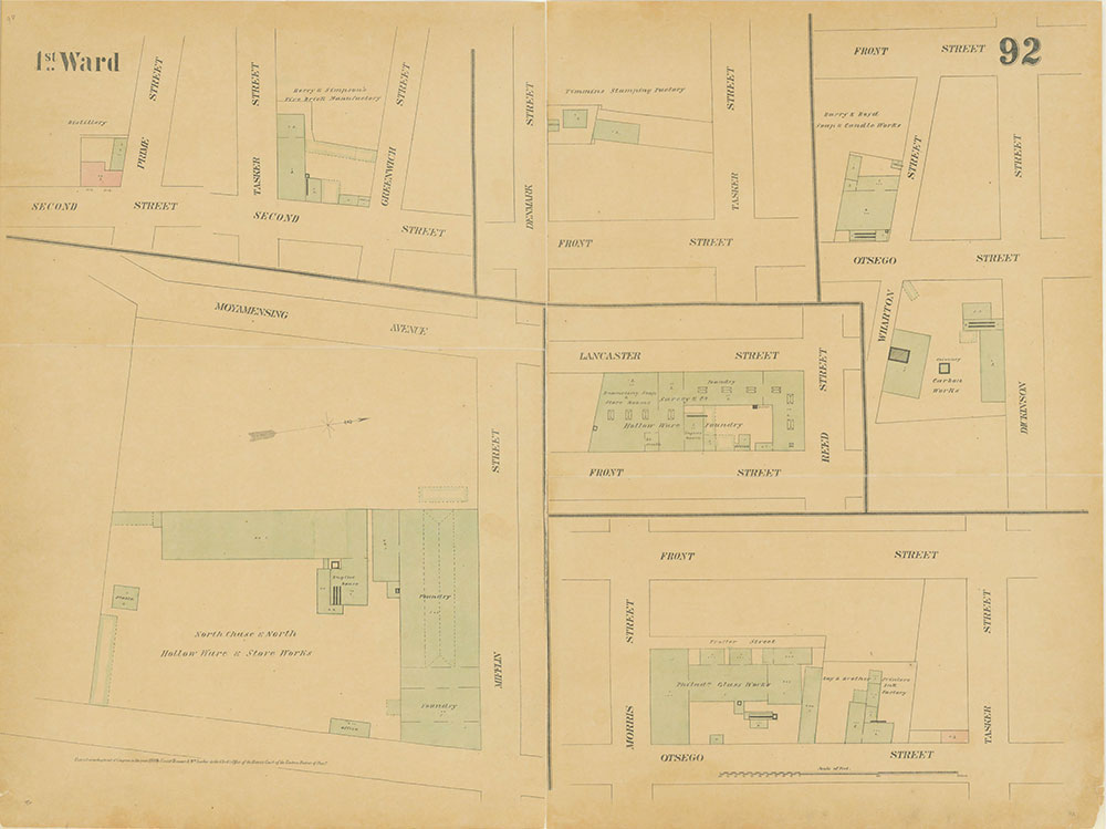 Maps of the City of Philadelphia, 1858-1860, Plate 92