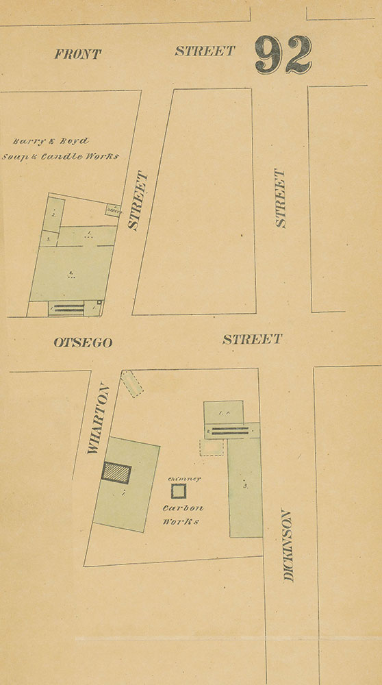 Maps of the City of Philadelphia, 1858-1860, Plate 92, Section B4