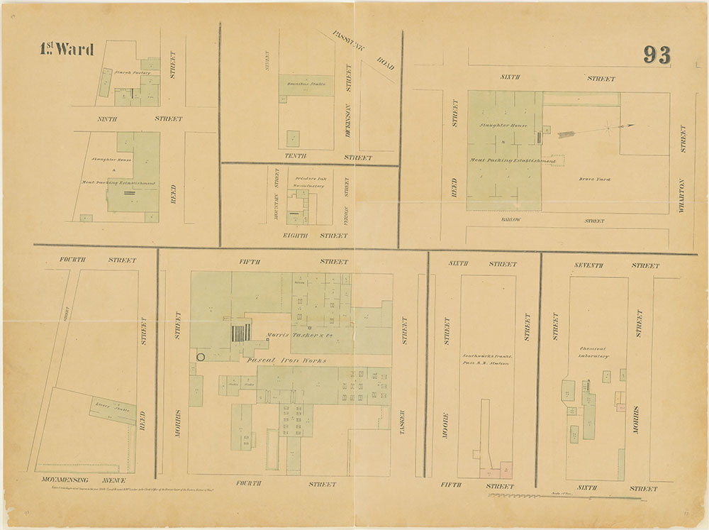 Maps of the City of Philadelphia, 1858-1860, Plate 93