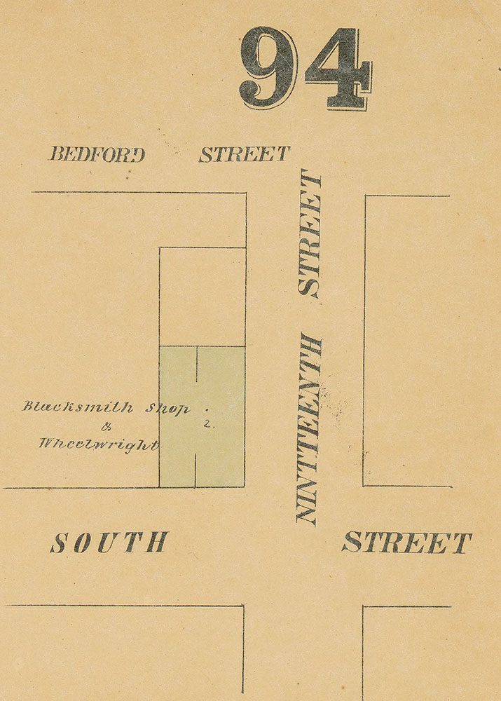 Maps of the City of Philadelphia, 1858-1860, Plate 94, Section B1