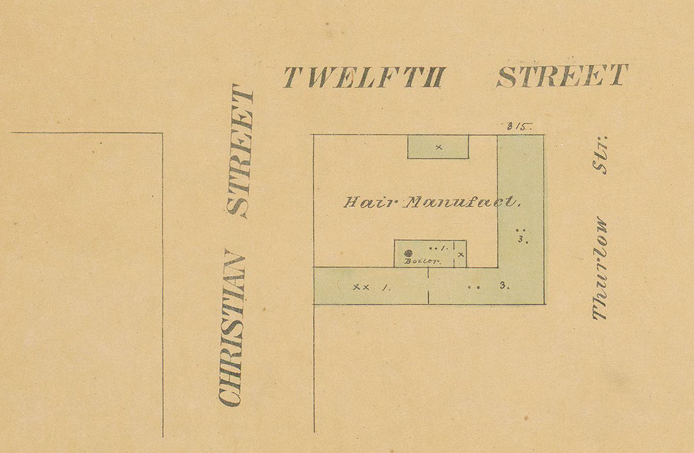 Maps of the City of Philadelphia, 1858-1860, Plate 96, Section A2