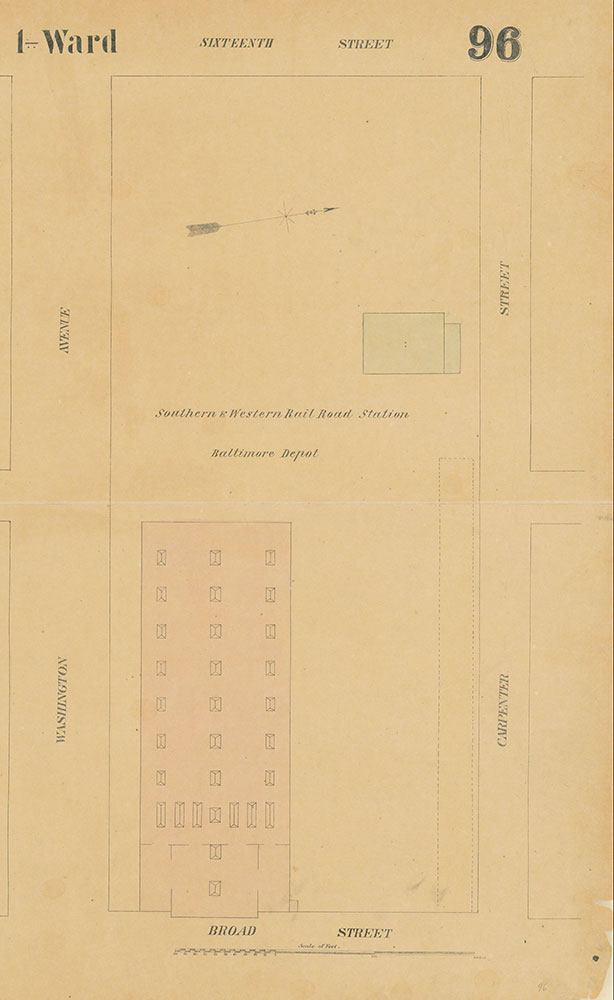 Maps of the City of Philadelphia, 1858-1860, Plate 96, Section B1