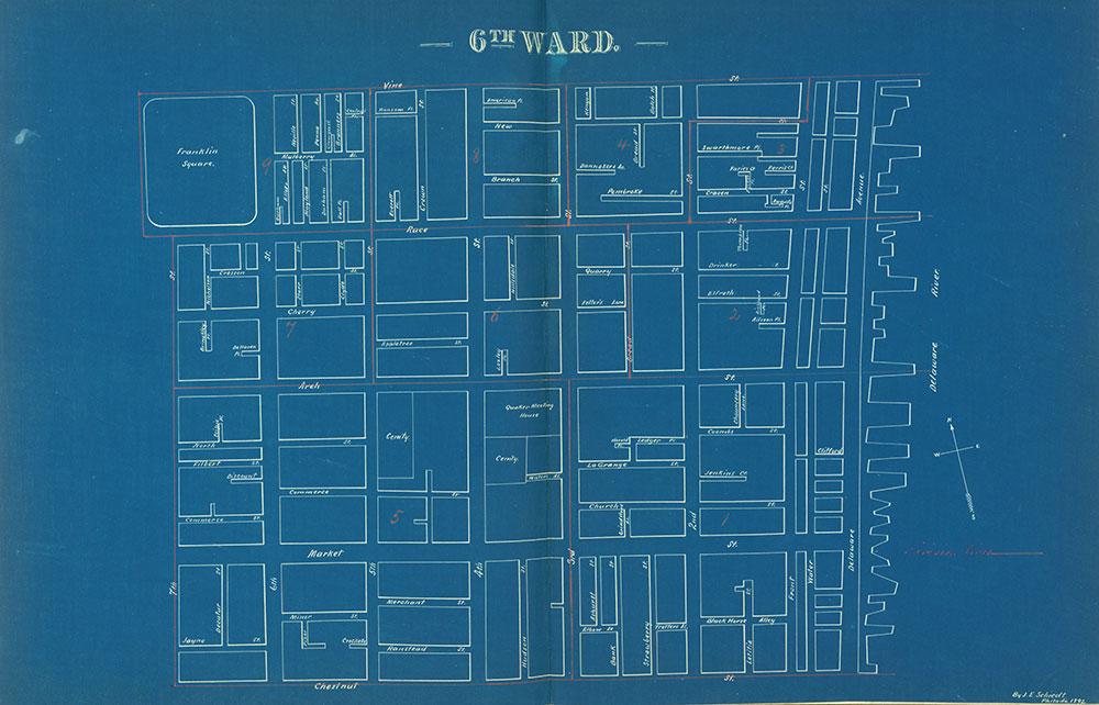 Atlas of the City of Philadelphia by Wards, Ward 6