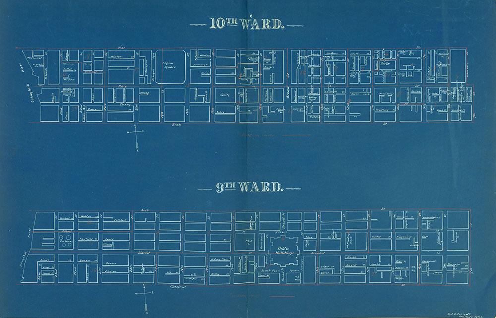Atlas of the City of Philadelphia by Wards, Ward 9-10