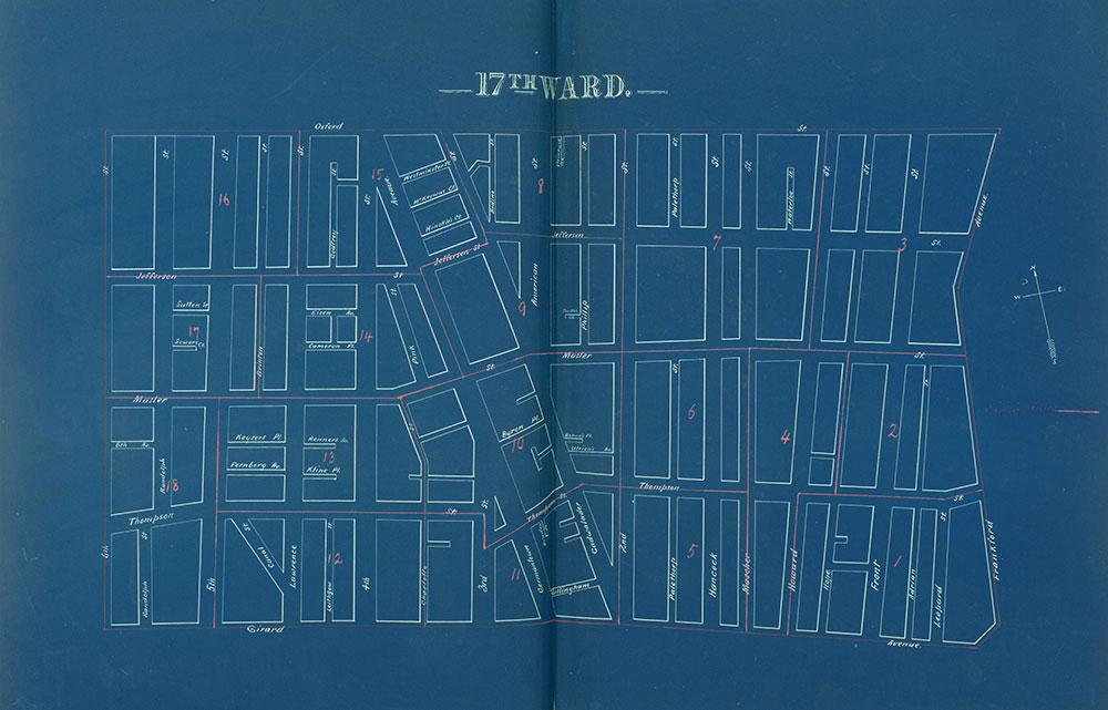 Atlas of the City of Philadelphia by Wards, Ward 17