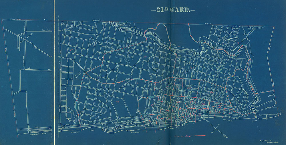 Atlas of the City of Philadelphia by Wards, Ward 21