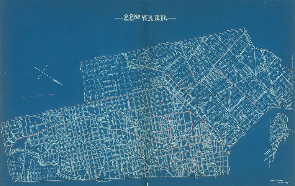 Atlas of the City of Philadelphia by Wards, Ward 22