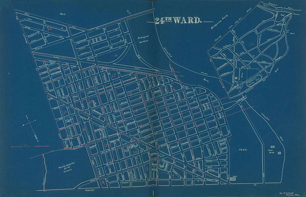 Atlas of the City of Philadelphia by Wards, Ward 24