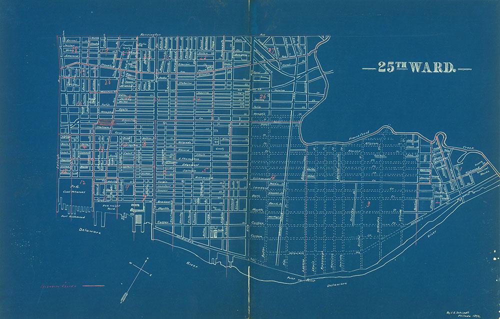 Atlas of the City of Philadelphia by Wards, Ward 25