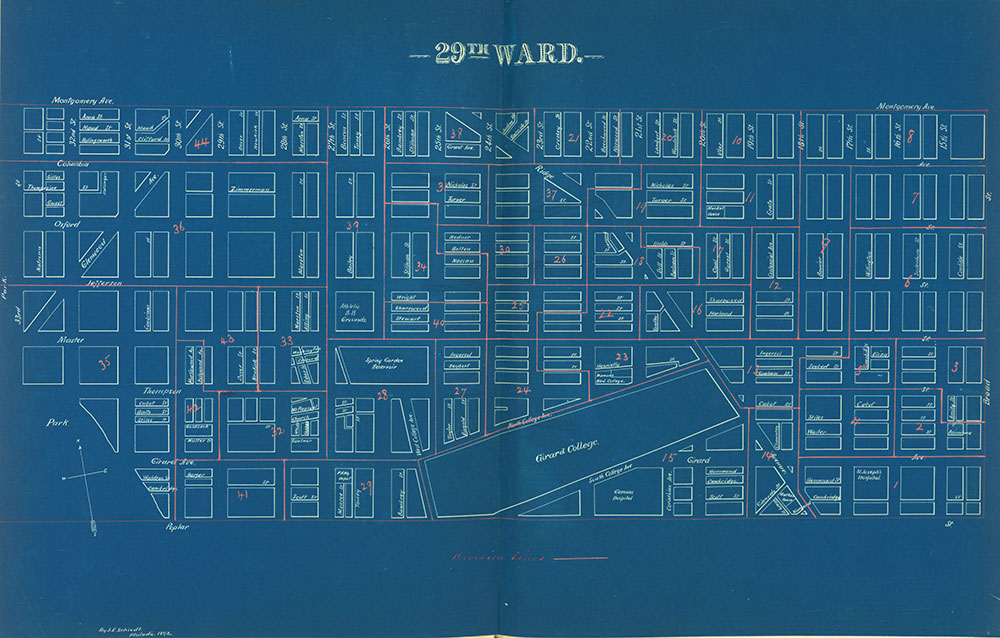 Atlas of the City of Philadelphia by Wards, Ward 29
