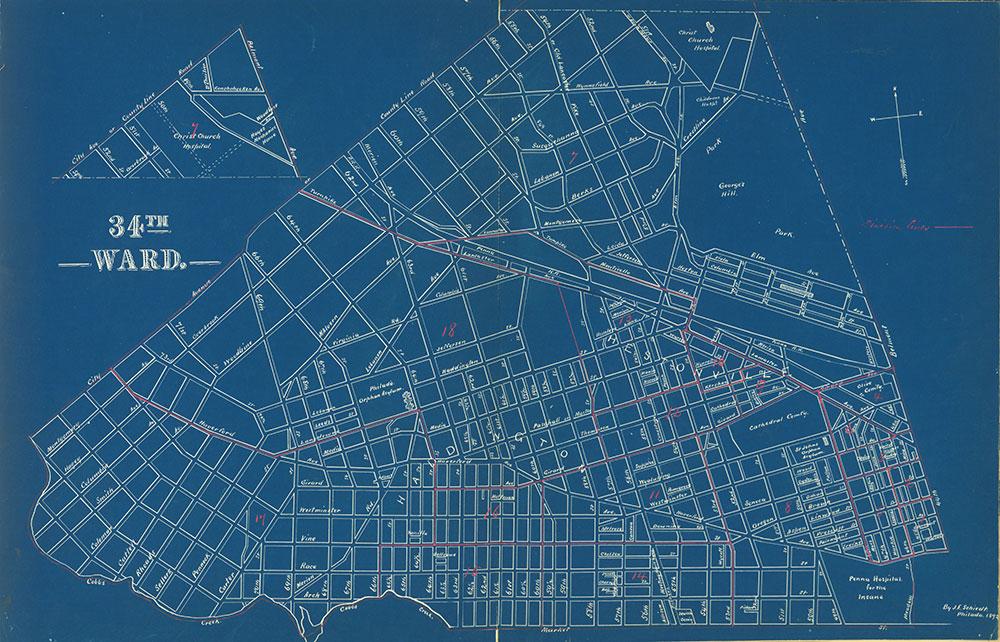 Atlas of the City of Philadelphia by Wards, Ward 34