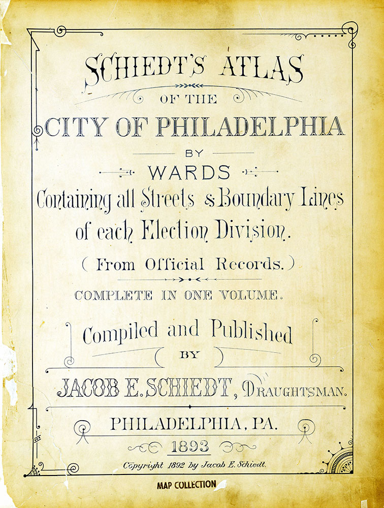 Atlas of the City of Philadelphia by Wards, Title Page