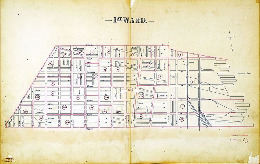 Atlas of the City of Philadelphia by Wards, Ward 1