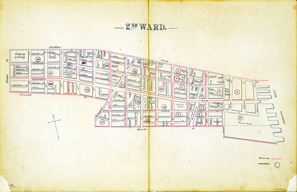 Atlas of the City of Philadelphia by Wards, Ward 2