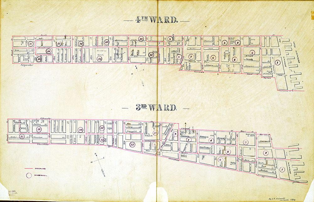 Atlas of the City of Philadelphia by Wards, Ward 3-4