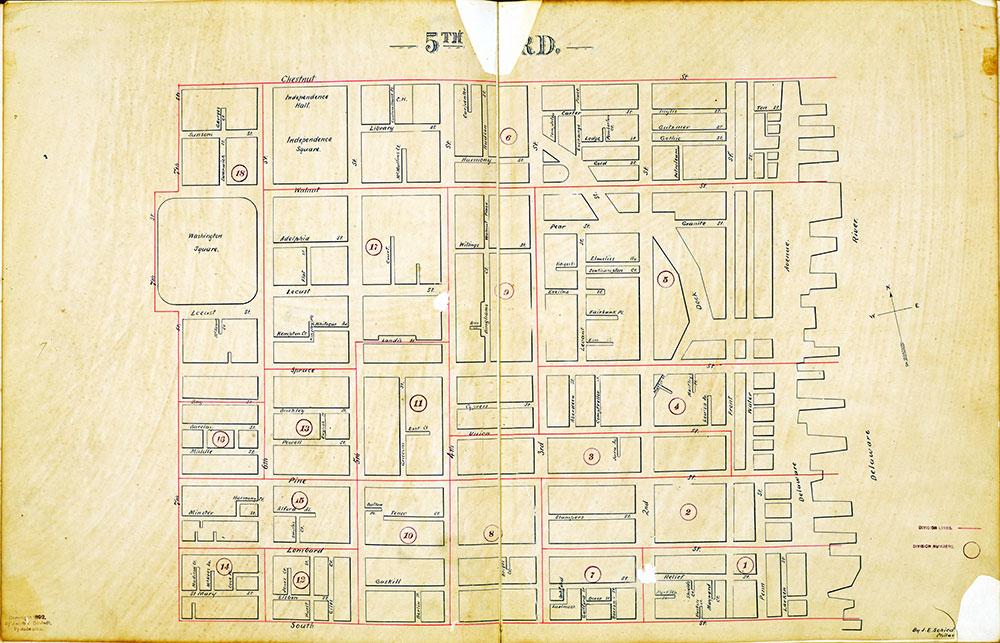 Atlas of the City of Philadelphia by Wards, Ward 5