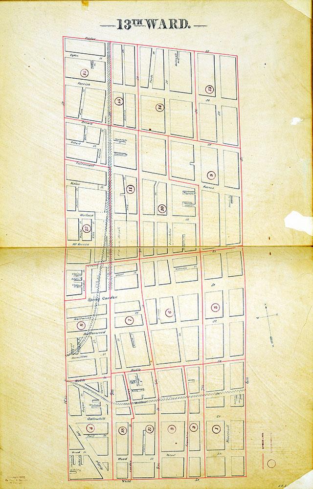 Atlas of the City of Philadelphia by Wards, Ward 13