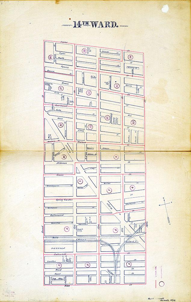 Atlas of the City of Philadelphia by Wards, Ward 14