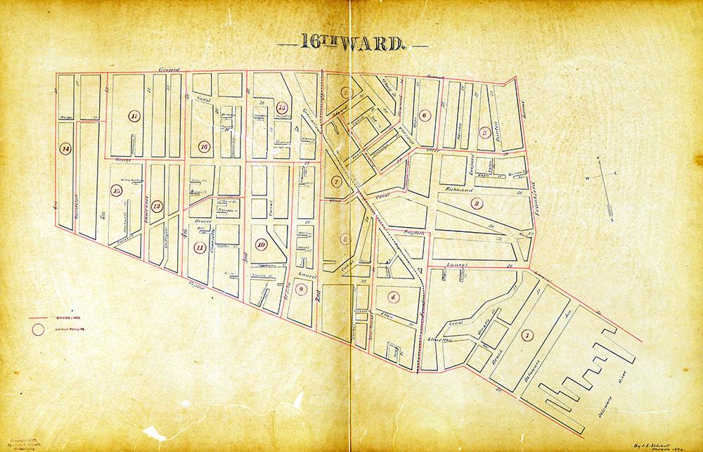 Atlas of the City of Philadelphia by Wards, Ward 16