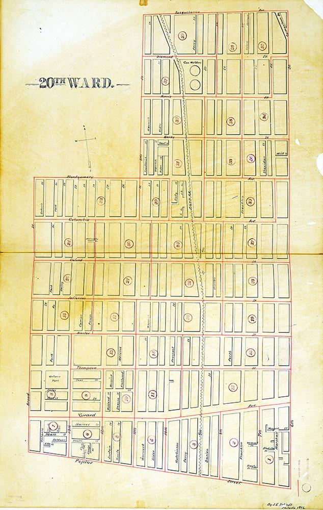 Atlas of the City of Philadelphia by Wards, Ward 20