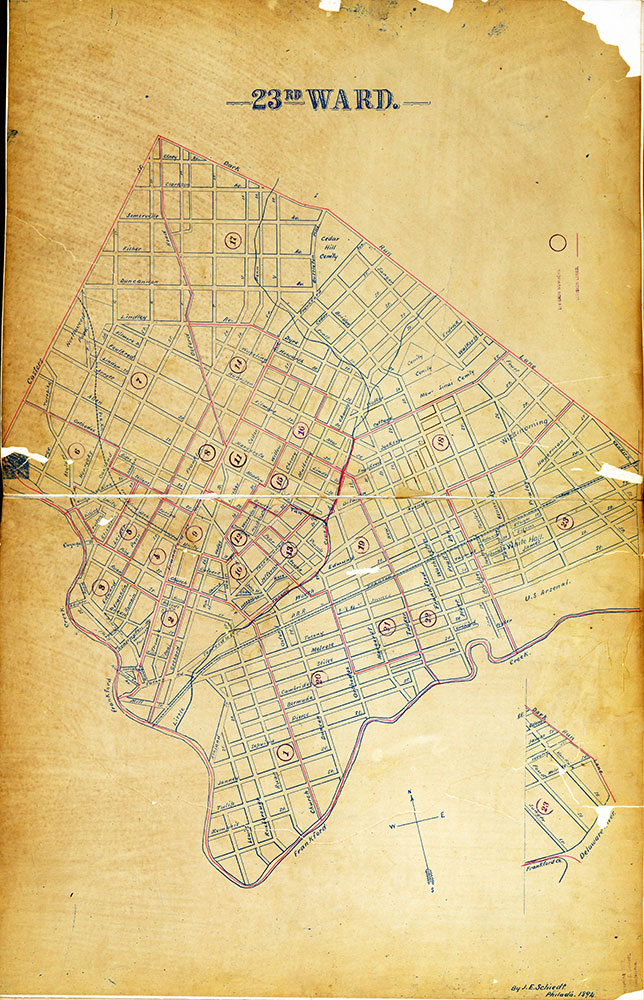 Atlas of the City of Philadelphia by Wards, Ward 23
