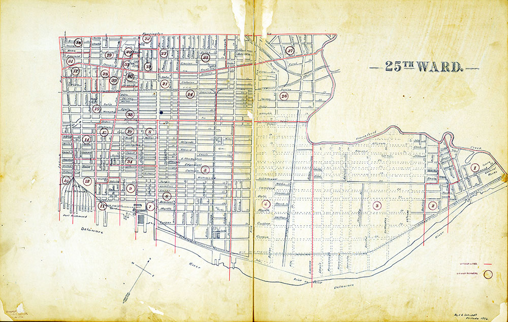 Atlas of the City of Philadelphia by Wards, Ward 25